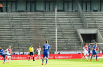COLOGNE, GERMANY - MAY 10: The empty stands are seen during the Bundesliga match between 1. FC Koeln and FC Schalke 04 at RheinEnergieStadion on May 10, 2015 in Cologne, Germany. (Photo by Lars Baron/Bongarts/Getty Images)