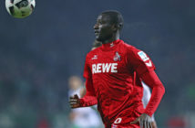 BREMEN, GERMANY - DECEMBER 17: Serhou Guirassy of Koeln in action during the Bundesliga match between Werder Bremen and 1. FC Koeln at Weserstadion on December 17, 2016 in Bremen, Germany. (Photo by Oliver Hardt/Bongarts/Getty Images)