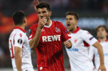 COLOGNE, GERMANY - SEPTEMBER 28: Milos Jojic of FC Koeln reacts to a missed chance during the UEFA Europa League group H match between 1. FC Koeln and Crvena Zvezda at RheinEnergieStadion on September 28, 2017 in Cologne, Germany. (Photo by Maja Hitij/Bongarts/Getty Images)