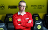 DORTMUND, GERMANY - SEPTEMBER 17: Peter Stoeger, head coach of Koeln looks on before the Bundesliga match between Borussia Dortmund and 1. FC Koeln at Signal Iduna Park on September 17, 2017 in Dortmund, Germany. (Photo by Martin Rose/Bongarts/Getty Images)