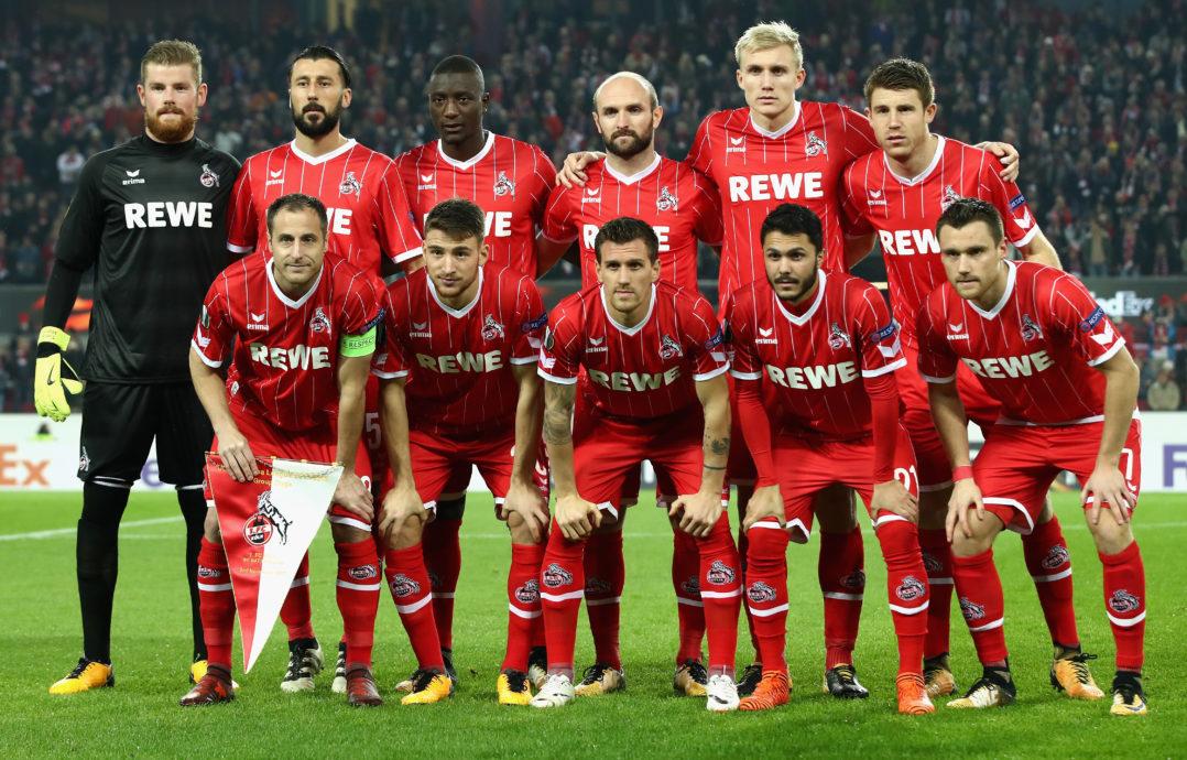 Teamfoto 1. FC Köln Europapokal Heimspiel BATE Borisov